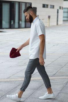 Shoulder Zipper Tee over Dress Shirt | SOLETOPIA