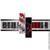 Картины и панно ручной работы. Ярмарка Мастеров - ручная работа Абстракция с маками. Handmade.