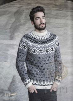 - Icelandic Gnótt Mens Wool Sweater Grey - Tailor Made - Nordic Store Icelandic Wool Sweaters  - 1
