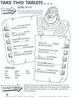coloring pages for kids each 10 commandments ten commandments maze