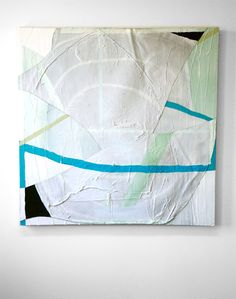 """""""LL,"""" Ian Swanson, 2011, acrylic, resin, caulk on canvas, 52 x 52"""". Collage Techniques, Acrylic Resin, Collages, 2d, Contemporary Art, Mixed Media, Tapestry, Cool Stuff, Canvas"""