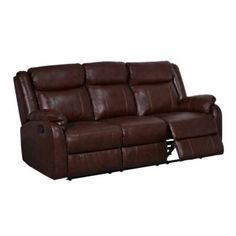 Drawer Reclining Sofa in Brown