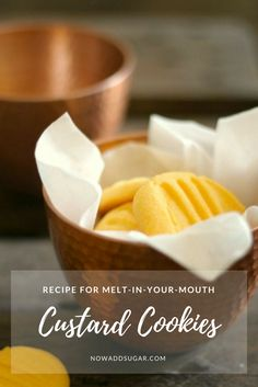Recipe for quick and easy custard cookies // biscuits and cookies // sweet treats Bake Sale Recipes, Baking Recipes, Cookie Recipes, Dessert Recipes, Baking Ideas, Healthy Recipes, Custard Biscuits, Custard Cookies, Egg Free Cakes
