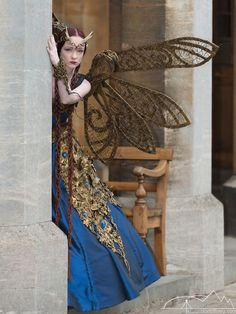 steampunksteampunk Need to find credit, cause this is wonderful!!!--those wings! That hair!!