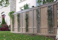 Privacy Fence On a Hill | This handmade lattice fence is highly unique and is designed to ...