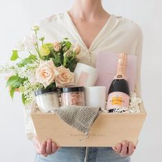 Staycation with Flowers & Rosé Champagne