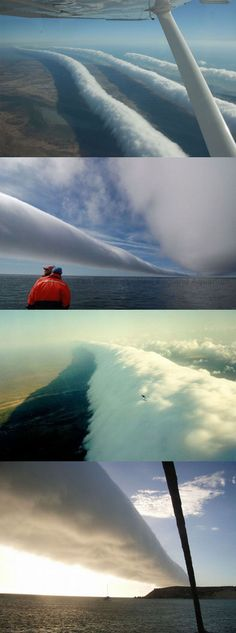 Awesome morning glory cloud.  Des nuages...