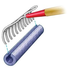 Use a pool noodle over rake to get unwanted water out of basement/garage etc.