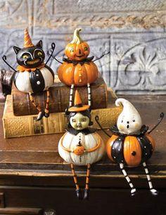 Pumpkin Munchkin Halloween Figurines Shelf Sitters