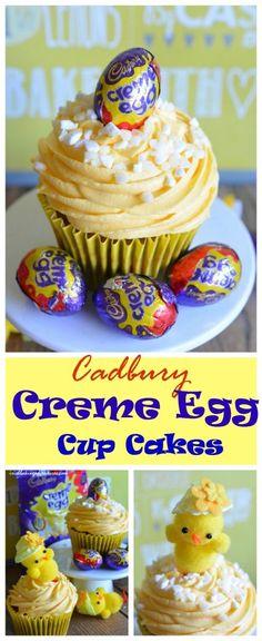 The rich chocolate sponge, mini creme-eggs and lemon mascarpone cream frosting make these Cadbury Creme-Egg Cupcakes the perfect Easter Treat.