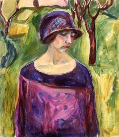 Edvard Munch - Birgit Prestøe in the Garden, 1924-1930