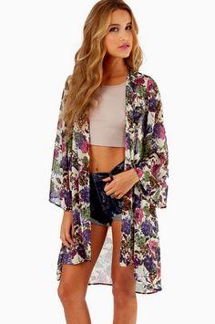 Vanessa Vintage Floral Kimono $39 at www.tobi.com