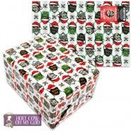 Santa Monster Wrapping Paper -  When it comes to the holidays, even monsters get the Christmas spirit! As proof, we offer up this Monster Gift Wrap.