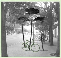 Austin Bike Rack Competition proposal/rendering: Stems to be made of forged steel. Estimated completion—spring/summer 2011.