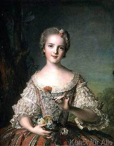 Jean-Marc Nattier - Portrait of Madame Louise de France (1737-87) at Fontevrault, 1748