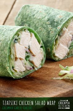 This recipe brings the clean, bright flavors of fresh cucumber, garlic and Greek yogurt straight from the Mediterranean. For a light and easy lunch idea try a Tzatziki Chicken Salad Wrap.