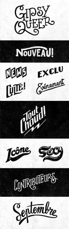 Typography Hand Lettering Têtu Magazine by Yeaaah! Studio via Behance