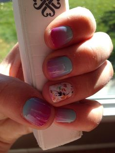 mermaid Tails Retired Metallic Pink/teal/white Bright In Colour Kind-Hearted Jamberry Full Sheet