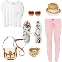 """""""Pink Jeans Outfit"""" by dominiquee920 on Polyvore"""