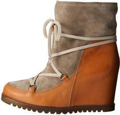 今年欲しいブーツになりそう。Fabio Rusconi インヒールウェッジムートンブーツ /shearing boots on ShopStyle