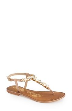 Naughty+Monkey+'Bling+Blang'+Embellished+Thong+Sandal+(Women)+available+at+#Nordstrom