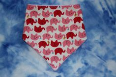 Cute pink elephants Bandana dribble bib drool bib UK by SewBitsy, £4.00