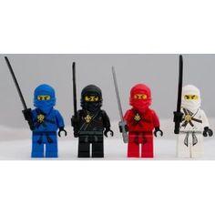 Amazon.com: Lego Ninjago Set of 4 Ninjago Minifigures - Jay, Kai, Cole, Zane: Toys & Games