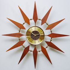 Starburst Clock by Welby Mid Century Modern Atomic by ClubModerne