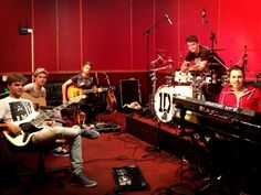 Niall Horan with the band