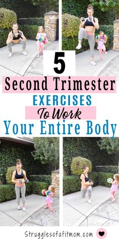 5 Second Trimester Exercises to Work You Entire Body This full body second trimester workout focuses on strengthening your shoulders, back and chest while incorporating full body movements that will also get your heart rate and blood flowing. Full Body Hiit Workout, Baby Workout, Prenatal Workout, Prenatal Yoga, Toning Workouts, Pregnancy Workout, Fun Workouts, Pregnancy Fitness, Fit Pregnancy