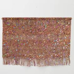Orange Holographic Glitter Wall Hanging