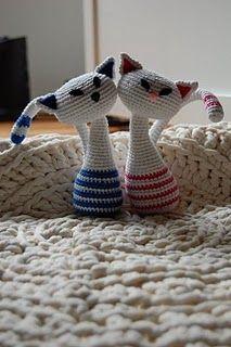Cats, Free pattern #amigurumi