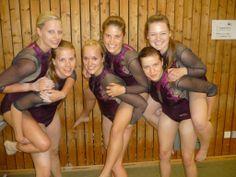 Having fun with it: FAU's women's gymnastics team.
