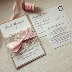 Ähnliche Artikel Wie Hochzeit Einladung Rustikale Blush Lace  Hochzeitseinladung Kraft U0026 Blush Lace Hochzeitseinladungen Auf Etsy