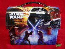 Star Wars- Collectable 2008 Darth Vader blue Dome Tin Lunch Box New Vintage Retro Style CLASSIC COLLECTABLE Edition Movie Official [Licensed Merchandise] Workmans Carry All $39.99