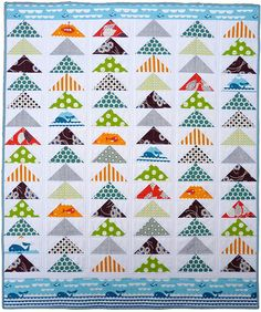 Red Pepper Quilts: Accuquilt ~ Modern Organic Flying Geese Quilt