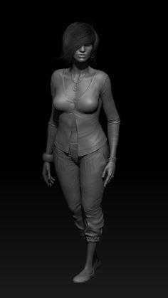 Woman Sculpt, Andrey Gritsuk on ArtStation at http://www.artstation.com/artwork/woman-sculpt