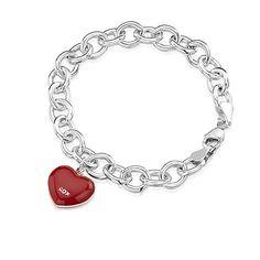 ROX Red Enamel Heart Charm Bracelet  www.rox.co.uk/sku/53641