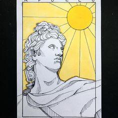Greek Mythology Tattoos, Greek Mythology Art, Apollo Tattoo, Icarus Tattoo, Ovid Metamorphoses, Gaming Tattoo, Greek Gods, Gods And Goddesses, Apollo