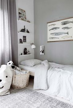 Clean, simple and beautiful kids room with gorgeous textures and linen bedcovers, Kids Room Design, Kid Spaces, Kids Decor, Boy Room, Room Interior, Kids Bedroom, Room Decor, Home, Beautiful Kids