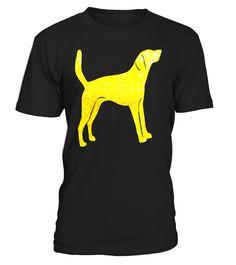 AMERICAN FOXHOUND Glitter T-Shirt, DOG Gold Glitter T-Shirt