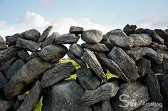 Drystone wall. Aran Islands. Ireland