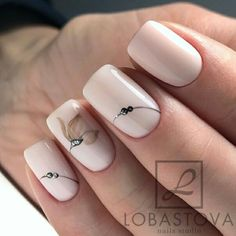 133 natural summer pink nails design for short square nails page 36 Nägel ideen Nude Nails, Pink Nails, My Nails, Short Square Nails, Nagellack Trends, Pink Nail Designs, Nails Design, Manicure E Pedicure, Flower Nails