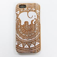 Painted White Bamboo Ella Phone Case (PS buying anything from Ivory Ella go towards saving elephants!)