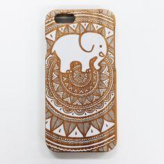 Painted White Bamboo Ella Phone Case (PS buying anything from Ivory Ella go towards saving elephants!)