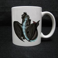 How to train your dragon  toothless for mug two side by Cuustomug