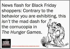 Is #BlackFriday shopping any different than the #HungerGames? Click to read the similarities... #Mockingjay