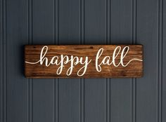 'Happy Fall' Rustic Wood Sign