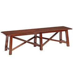 We need a bench like this top fit all three kids across one side of the table....hmmm.