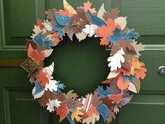 Hand made wreath. Cut from my sizzix dies with my big shot.